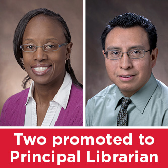 Two promoted to principal librarian