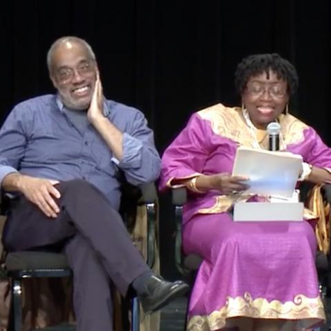 Video still from a presentation about Freedom Summer