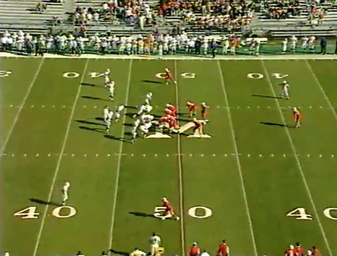 video still from Miami football game