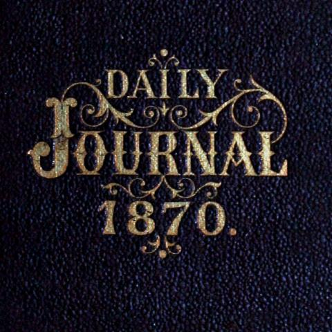 Personal journal cover from 1870